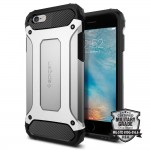 "Spigen Tough Armor Tech [srebrne], Pancerne etui dla iPhone 6 (4.7"")"