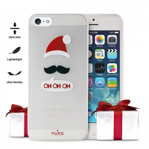 "PURO Ultra Slim ""0.3"" Christmas Cover [ohohoh], Etui na iPhone SE/5/5S"