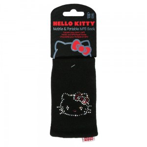 Hello Kitty Gems Mobile Sock [Black], Uniwersalne etui-skarpetka