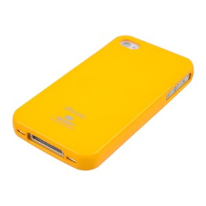 Mercury/Goospery Jelly Case [Yellow], Elastyczne etui dla iPhone 4/4S