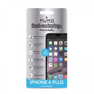"PURO Screen Protectors, Dwie folie na ekran dla iPhone 6/6S Plus (5.5"")"