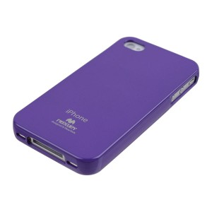 Mercury/Goospery Jelly Case [Purple], Elastyczne etui dla iPhone 4/4S