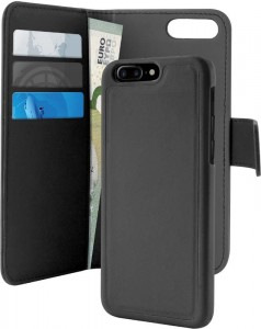 "PURO Wallet Detachable [czarne], Futerał 2w1 dla iPhone 7 Plus (5.5"")"