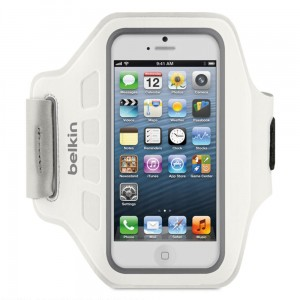 Belkin Ease-Fit Armband [White], Opaska na ramię dla iPhone 5/5S/5C