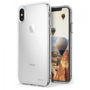 "Ringke Air Case [bezbarwne], Cienkie silikonowe etui do iPhone X (5.8"")"