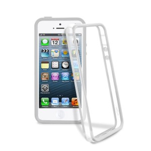 PURO Bumper Frame [Grey], Etui iPhone 5