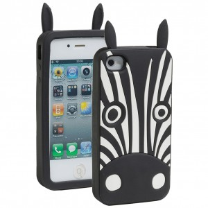 3D Animal Case [Zebra], Gumowy pokrowiec na iPhone 4/4S