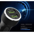 RINGKE REALX2 QC3.0 2-PORT USB CAR CHARGER [czarna]