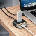 Adapter USB to USB 4in1 Baseus Square 100cm [czarny]