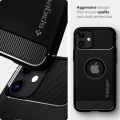 Etui do iPhone 12 Mini Spigen Rugged Armor [czarne]