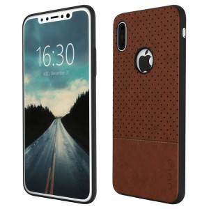 "QULT Drop Case [brązowe], Elastyczne etui do iPhone X (5.8"")"