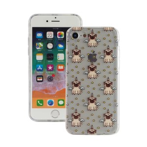 "Fashion Case Print Back [Unicorn Pug], Etui silikonowe na iPhone 7/8 (4.7"")"