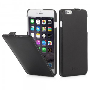"Etui z klapką do iPhone 6 Plus/6S Plus (5.5"") Stilgut UltraSlim [czarne-nappa]"