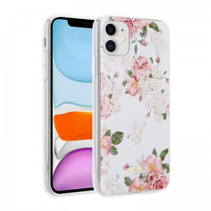 Etui do iPhone 11 Crong Flower Case [różowe kwiaty]