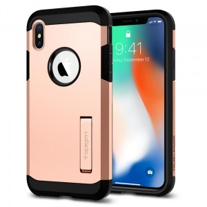 "Spigen Tough Armor [rumiane], Pancerne etui dla iPhone X/10 (5.8"")"