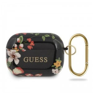 Etui - Case - Futerał do słuchawek Apple AirPods Pro - Guess Flower Colletion N4 [czarny]