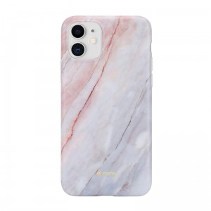 Etui do iPhone 11 Crong Marble Case [różowy]