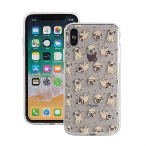 "Etui do iPhone X/XS (5.8"") Fashion Case Print Back [Pug & Love],"