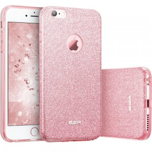 "Brokatowe etui do iPhone 6/6S (4.7"") ESR Glitter Shine Cover [różowe złoto],"