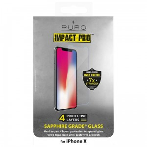 PURO Sapphire Tempered Glass, Szkło hartowane na ekran do iPhone Xs/X