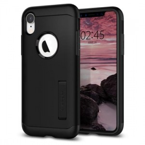 Etui do iPhone XR Spigen Slim Armor [czarny]