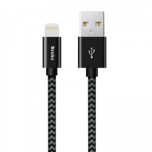 Benks Amber  MFI Ligtening Cable 120cm [czarny]