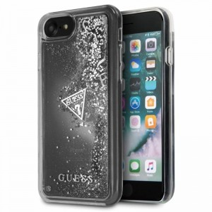 "Etui do iPhone 7/8 (4.7"") Guess Glitter Hearts [srebrne]"
