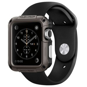Etui ochronne do Apple Watch 1/2/3 (42mm) Spigen Tough Armor [brązowe]