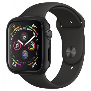 Etui ochronne do Apple Watch 4/5/6/SE (44mm) Spigen Thin Fit [czarne]