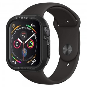 Etui ochronne do Apple Watch 4/5/6/SE (44mm) Spigen Rugged Armor [czarne]