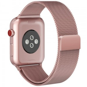 Pasek do Apple Watch 1/2/3/4/5/6/SE (42/44 mm) Tech-Protect Milaneseband [różowe złoto]