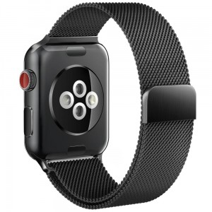 Pasek do Apple Watch 1/2/3/4/5/6/SE (42/44 mm) Tech-Protect Milaneseband [czarny]