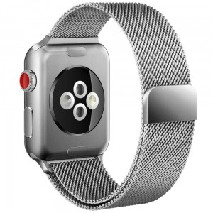 Pasek do Apple Watch 1/2/3/4 (38/40 mm) Tech-Protect Milaneseband [srebrny]