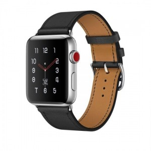 Pasek do Apple Watch 1/2/3/4 (38/40 mm) Tech-Protect Herms [czarny]