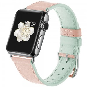 Pasek do Apple Watch 1/2/3/4 (38/40 mm) Tech-Protect Candyband [różowo-miętowy]