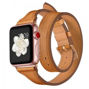 Pasek do Apple Watch 1/2/3/4 (38/40 mm) Tech-Protect Longcharm [brązowo złoty]