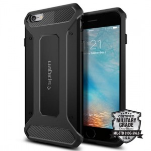 "Etui do iPhone 6+/6S Plus (5.5"") Spigen Rugged Armor [czarne]"