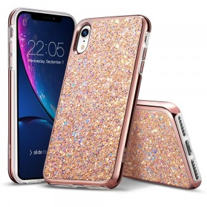 Etui do iPhone XR ESR Glitter [różowe złoto]