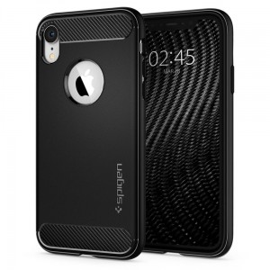Etui do iPhone XR Spigen Rugged Armor [matowe, czarne]