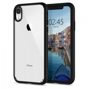 Etui do iPhone XR Spigen Ultra Hybrid [matowe, czarne]