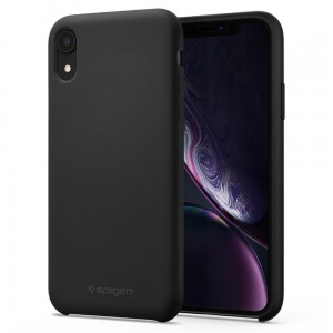 Etui do iPhone XR Spigen Silicone Fit [czarne]
