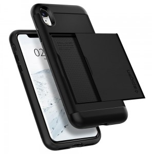 Etui do iPhone XR Spigen Slim Armor CS [czarne]