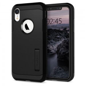 Etui do iPhone XR Spigen Tough Armor [czarne]