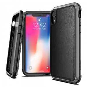 Etui do iPhone XR X-Doria Defense Lux [skórzane czarne]