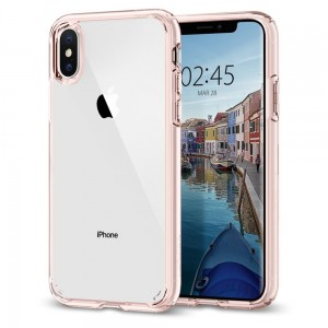 "Etui do iPhone XS MAX (6.5"") Spigen Ultra Hybrid [różowe]"