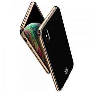 "Etui do iPhone XS MAX (6.5"") Spigen La Manon [czarno-złoty]"