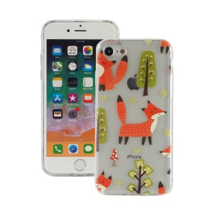"Fashion Case Print Back [Fox & Tree], Etui silikonowe na iPhone 7/8 (4.7"")"
