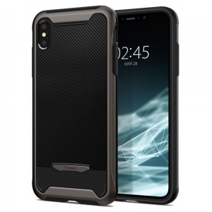 "Etui do iPhone X/XS (5.8"") Spigen Hybrid ""NX"" [ciemno szary]"