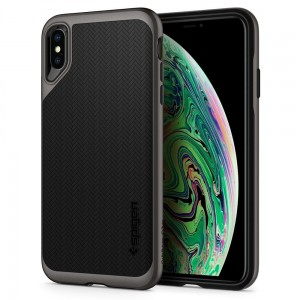"Etui do iPhone X/XS (5.8"") Spigen Neo Hybrid [stalowe]"