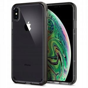 Etui do iPhone X/XS Spigen Neo Hybrid Crystal [ciemno szary]